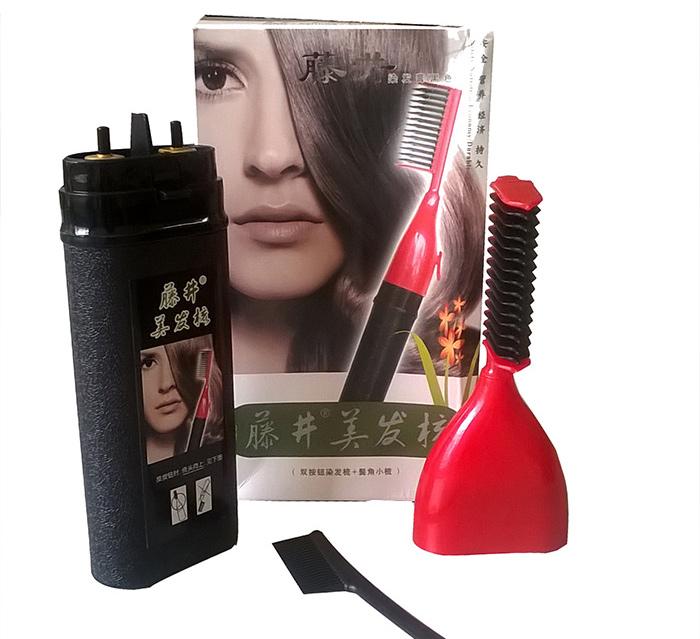 Combo lược nhuộm tóc thông minh và lõi thuốc thay thế (Đen)
