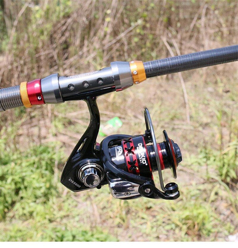 Bộ cần câu cá Chính hãng DeuKio - Máy kim loại cao cấp - Tặng kèm nhiều phụ kiện BC03