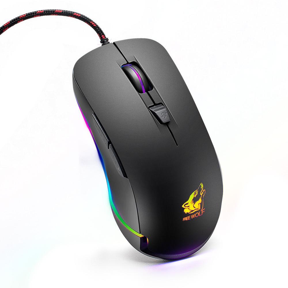 ZIYOU LANG V6 chuột gaming có dây Premium LED RGB, Nhiều Chế Độ Led Khác Nhau - Hàng chính hãng