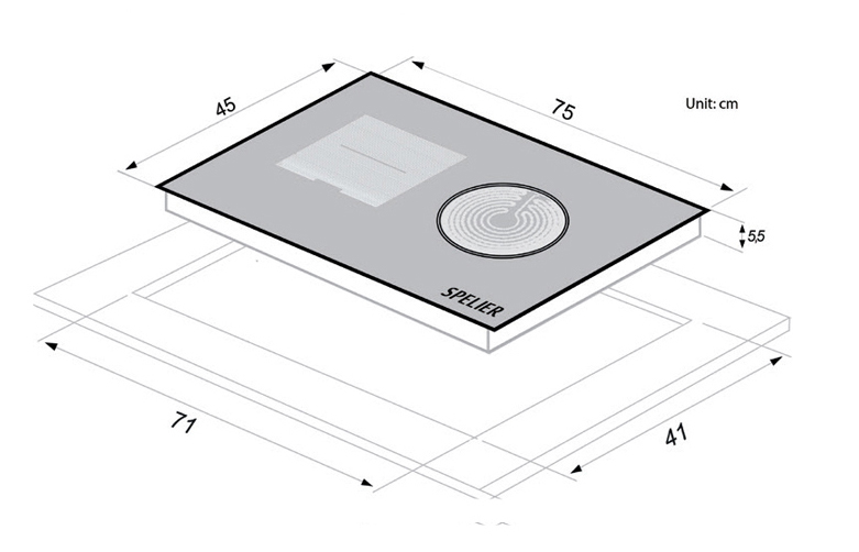 Bếp từ Spelier SPE-IC1088EG (IC1088-EG) - HÀNG NHẬP KHẨU ĐỨC