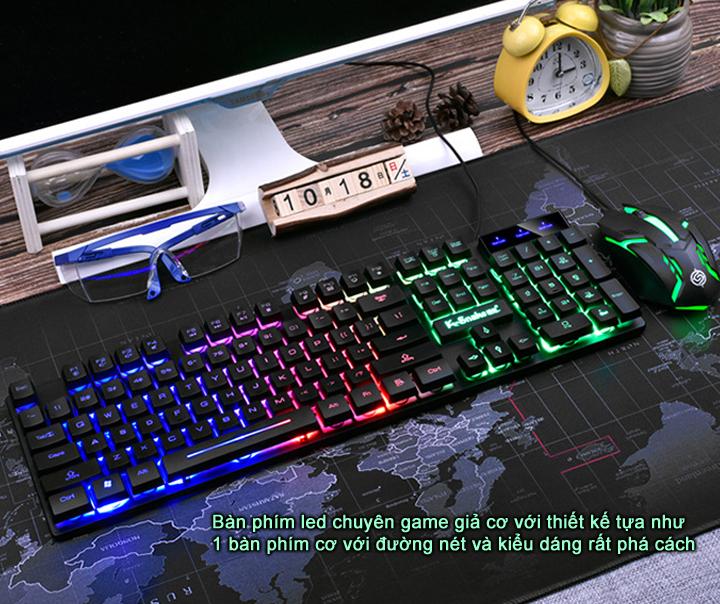 Bộ bàn phím và chuột K-SNAKE KM320 chuyên Game Led 7 màu - Hàng Chính Hãng