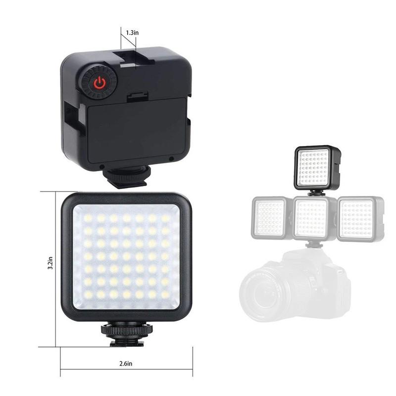 Đèn 49 LED Trợ Sáng Kèm 04 Pin Sạc AA 1200mAh Doublepow Cao Cấp AZONE