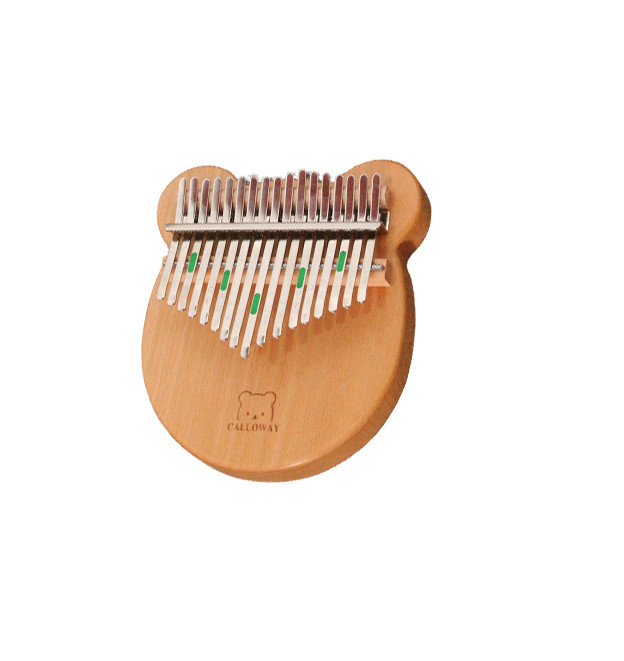 Đàn kalimba 17 phím Gấu Caloway-M17 Tặng hộp chống sốc phụ kiện búa chỉnh âm stick dán màu stick dán nốt