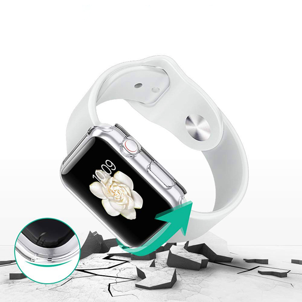 Ốp lưng / Case cho đồng hồ thông minh Apple Watch (size 44 mm ) – Silicone dẻo – Hàng chính hãng