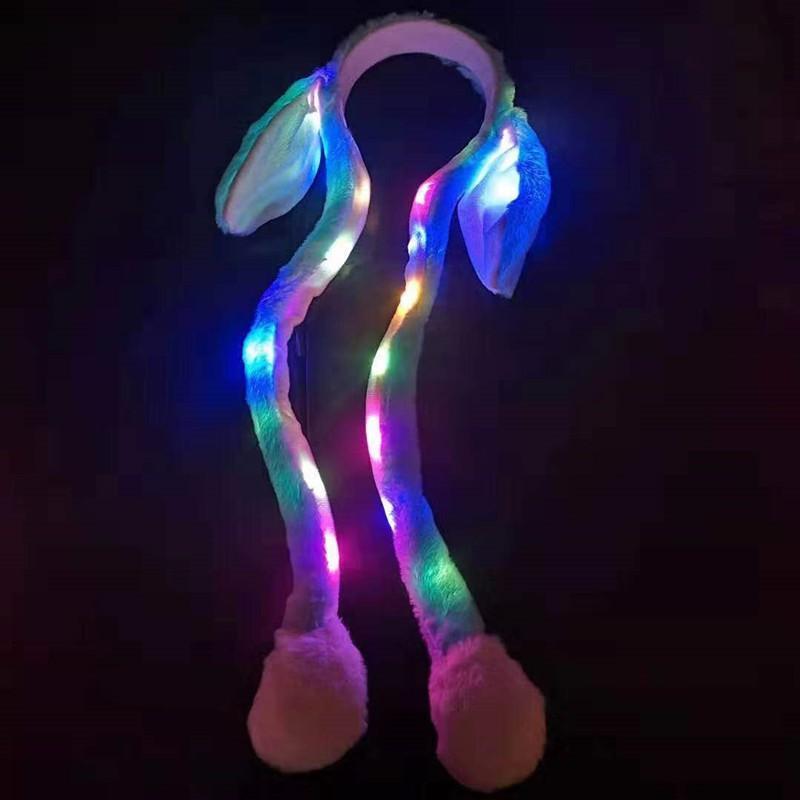 Mũ, bờm tai thỏ giật có đèn