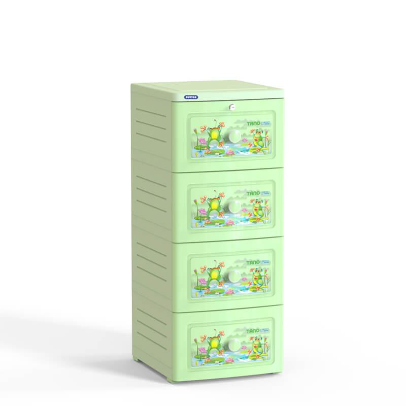 Tủ nhựa Duy Tân Tano 4 ngăn No.221/4 ( 40 x 45 x 97 cm ) Màu sắc - Họa tiết ngẫu nhiên