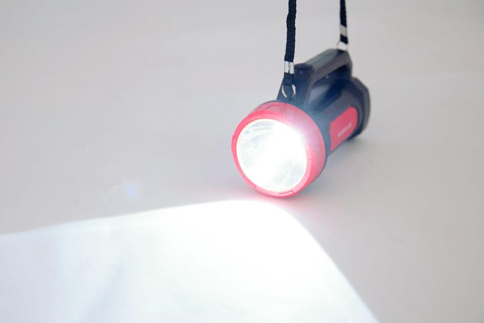Đèn Pin, Đèn Tích Điện Xách Tay 2 Chức Năng Sunhouse SHE-8100 - Chính Hãng