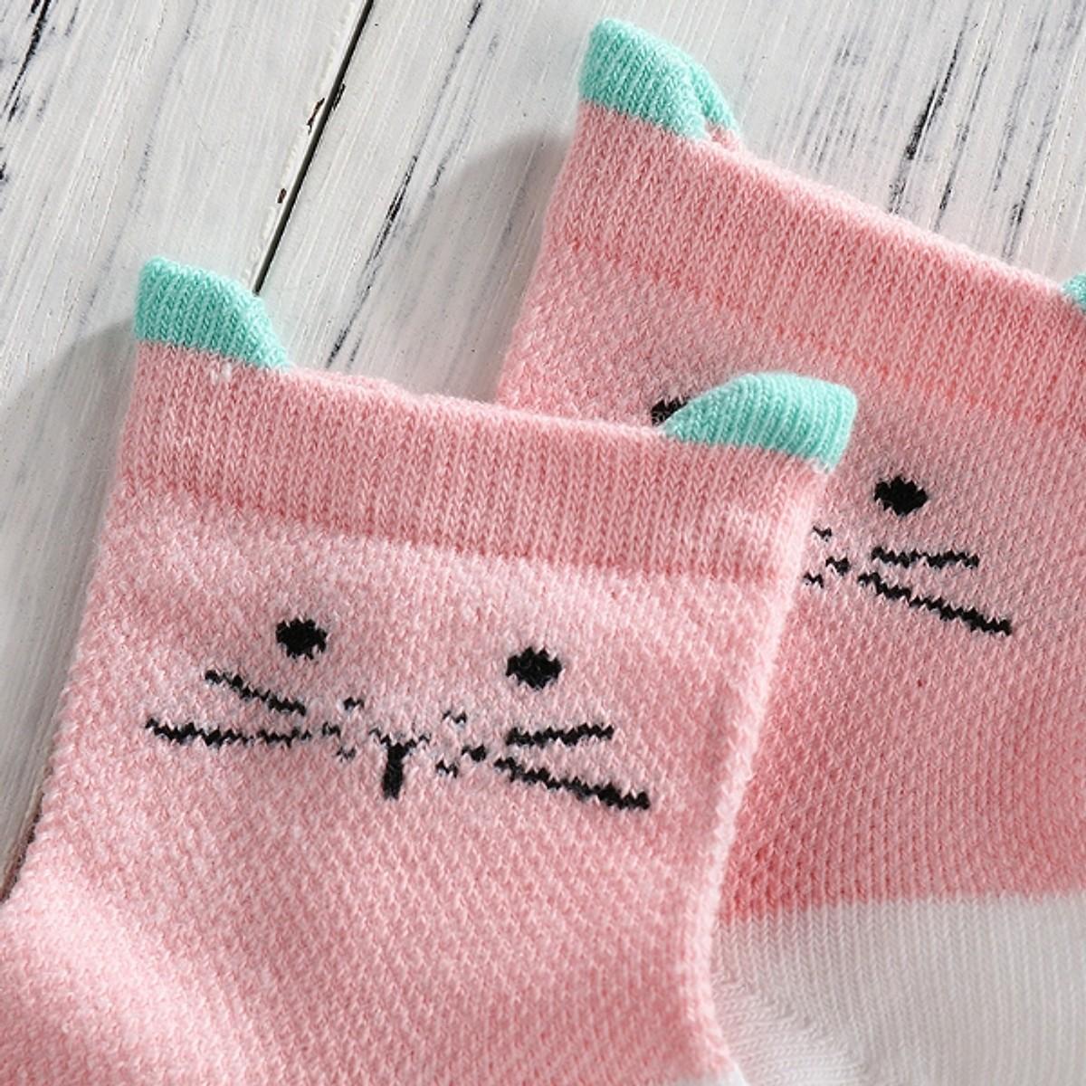 Combo 5 đôi vớ hồng cho bé gái