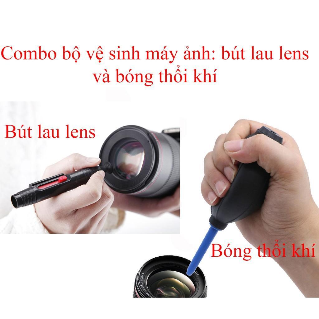 Combo 2 món vệ sinh máy ảnh (bóng thổi và bút lau lens)