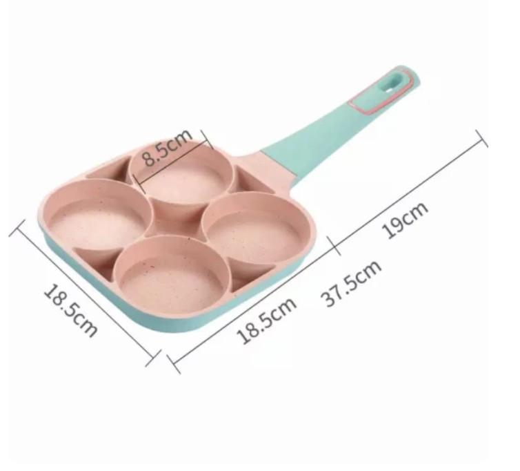 Chảo 4 lỗ làm bánh chiên trứng 4 lỗ không dính