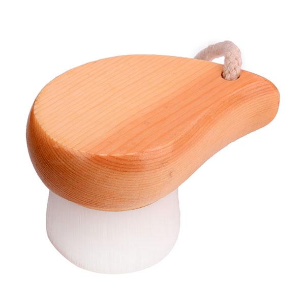 Cọ rửa mặt cán gỗ lông mịn cho da nhạy cảm