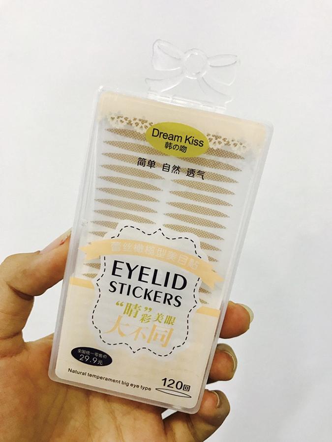 Hộp miếng dán kích mí lưới Dream Kiss Eyelid Stickers - (120 miếng loại nhỏ)