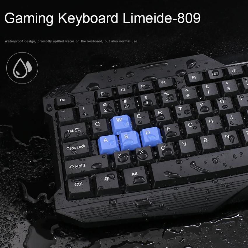 Bộ Bàn Phím Gaming Có Dây Giả Cơ Limeide L809 và Chuột Chơi Game Limeide L316 - Hàng Chính Hãng