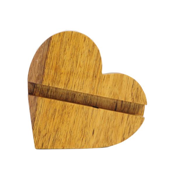 Đế dựng điện thoại, máy tính bảng hình trái tim bằng gỗ