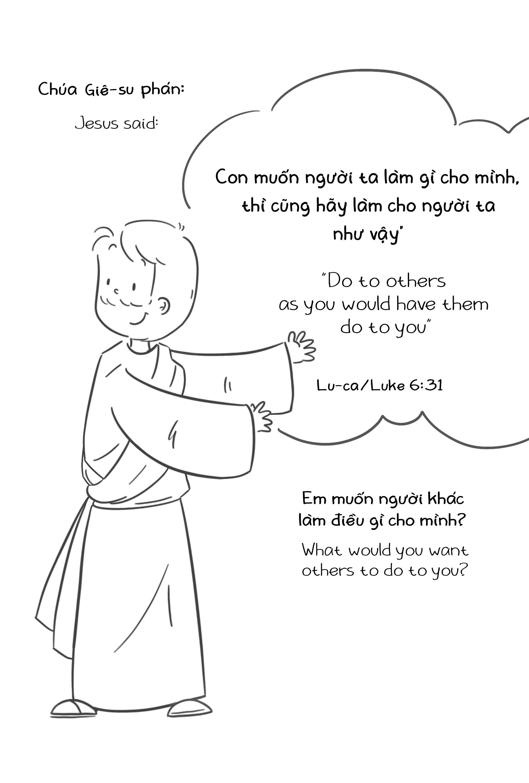 Combo Người Samari (song ngữ) - 2 Truyện Tranh Kinh Thánh Thiếu Nhi Công  Giáo và 2 truyện tranh Kinh Thánh tô màu - Truyện kể cho bé
