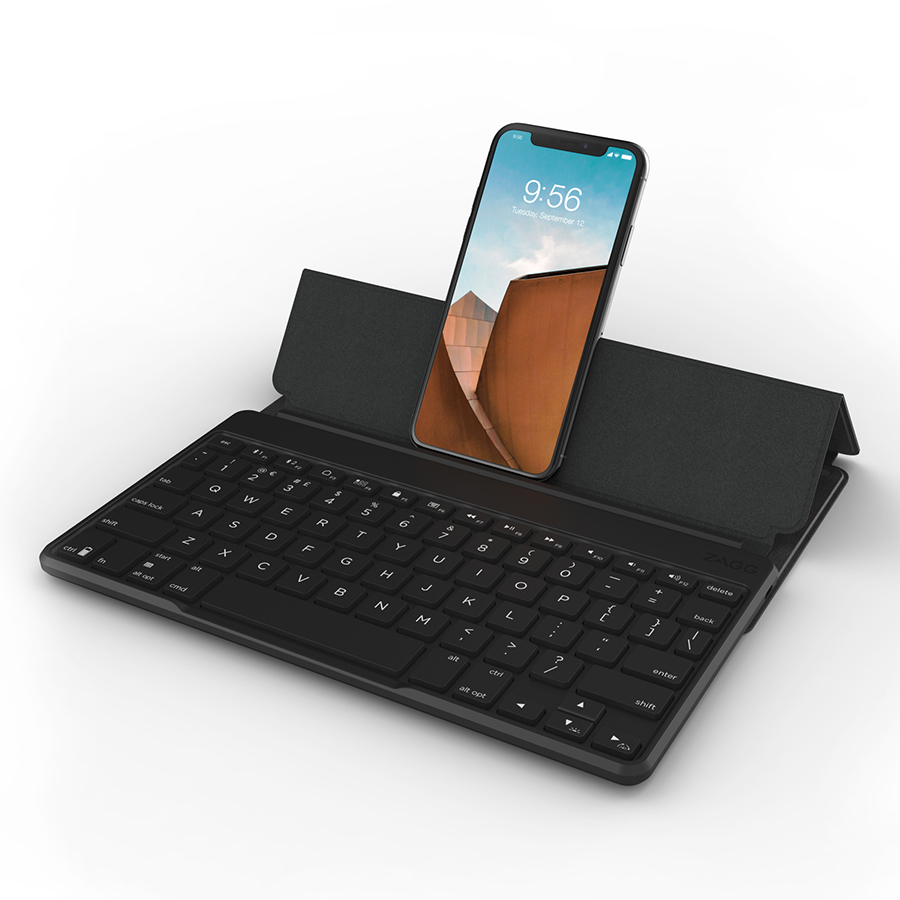 Ốp Lưng Kèm Bàn Phím Zagg Flex Universal Keyboard Up To 12 Inch (848467079890 - Black) - Hàng chính hãng