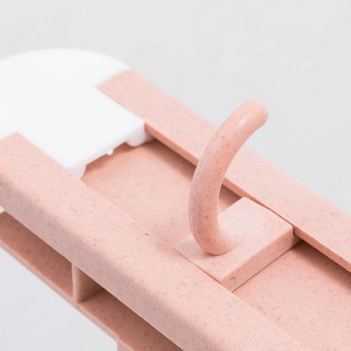 Kệ dán tường treo đồ đa năng, chịu lực tốt - Kệ dán tường đựng dao kéo có 6 móc, điều chỉnh vị trí, độ cao thấp, giao màu ngẫu nhiên+ Tặng kèm hình dán ngẫu nhiên