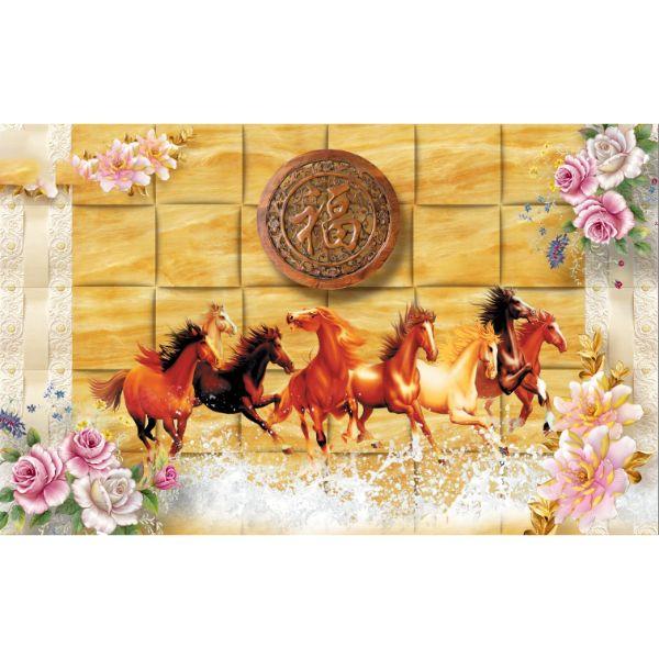 Decal Dán Tường Mã Đáo Thành Công - Tranh Dán Tường Ngựa - T3M--25049