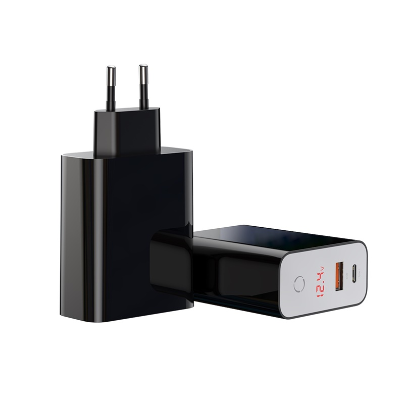 Sạc điện thoại 2 cổng USB & USB Type-C PD3.0 + QC3.0 - Baseus Speed PPS Smart shutdown - Hàng nhập khẩu