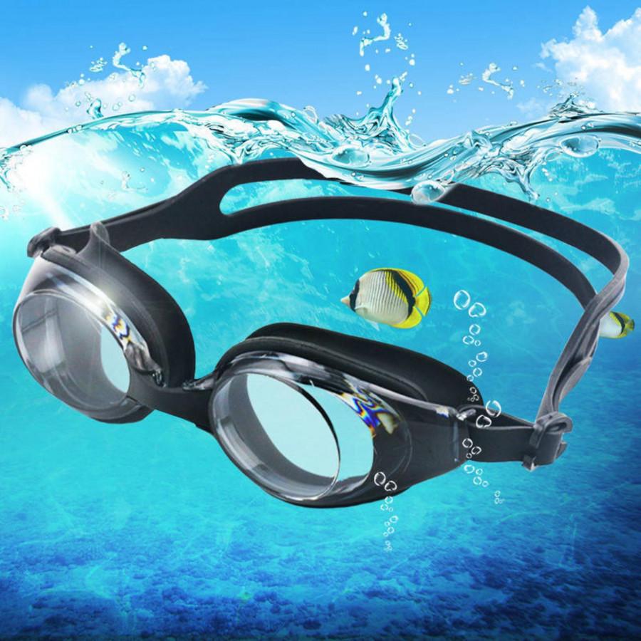 Kính Bơi Cận CÓ THỂ LỆCH ĐỘ, Chống TRẦY, Chống UV, Chống Hấp Hơi - 6 độ - 1.5 độ