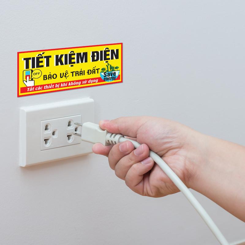 Tiết kiệm điện - Single Sticker hình dán lẻ