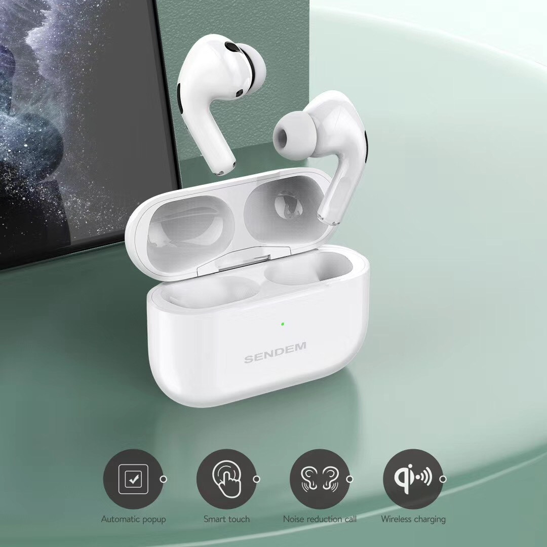 Tai nghe TWS PRO SENDEM tặng silicole case màu ngẫu nhiên - Hàng chính hãng