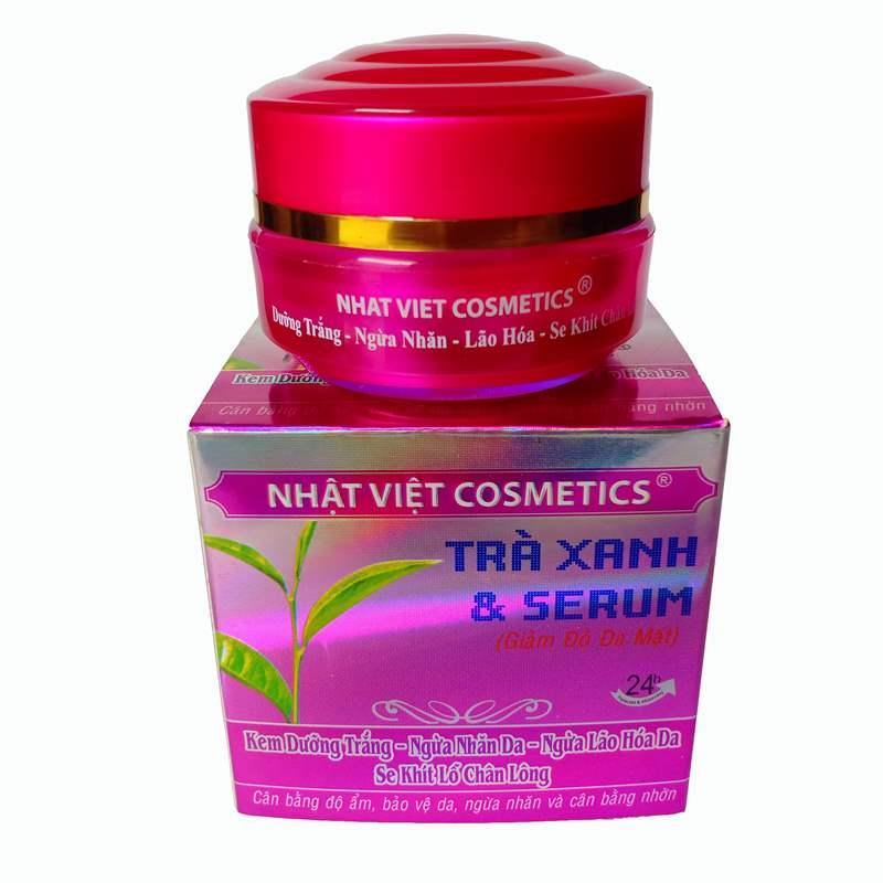 Kem dưỡng trắng - Ngừa nhăn da - Ngừa lão hóa da 13g  -  Nhật Việt Trà xanh