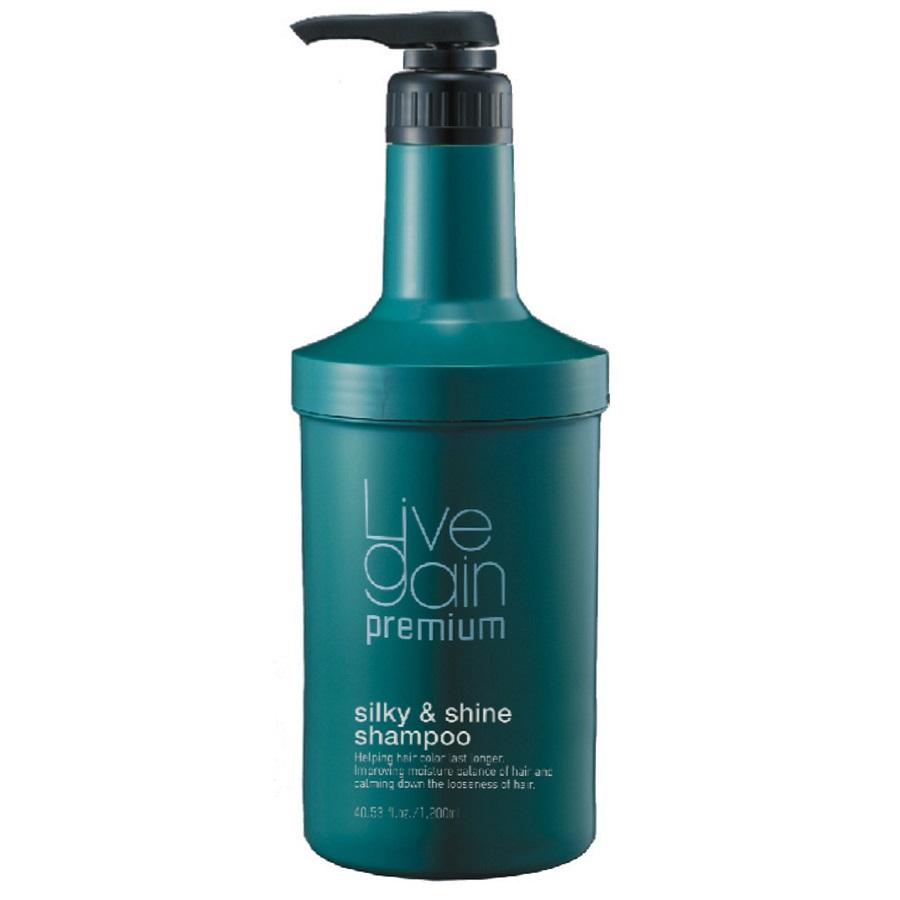 Dầu gội giữ màu Livegain Premium Silky & Shine suôn mượt hương nước hoa Hàn Quốc 1200ml