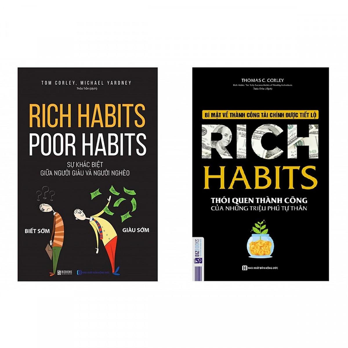 """Bộ Sách Bí Mật Của Sự Thành Công ( Rich Habits  + """"Rich Habits - Poor Habits"""") (Tặng kèm kho Audio Books)"""