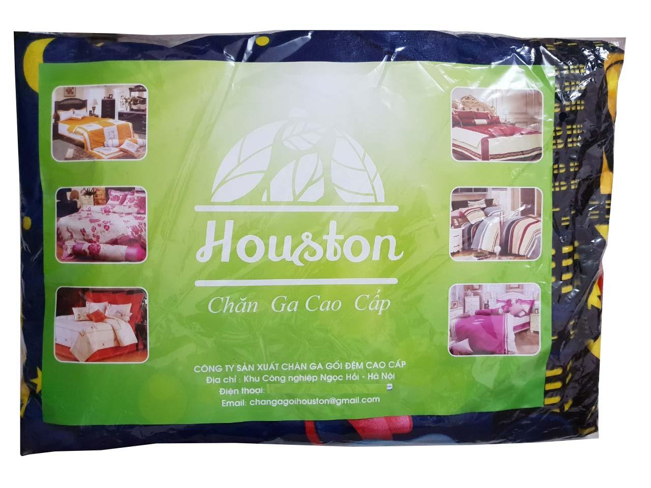 Set 3 món ga gối Poly cotton PL2  Đào hồng + Tặng 1 vỏ gối ôm
