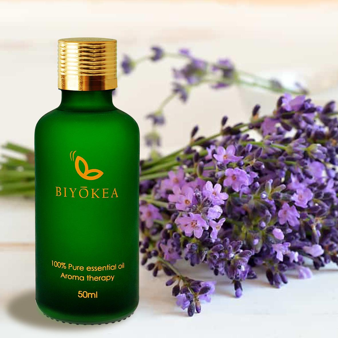 Tinh dầu Oải Hương (Lavender) xông hương thư giãn giảm stress, dễ ngủ 50ml Biyokea