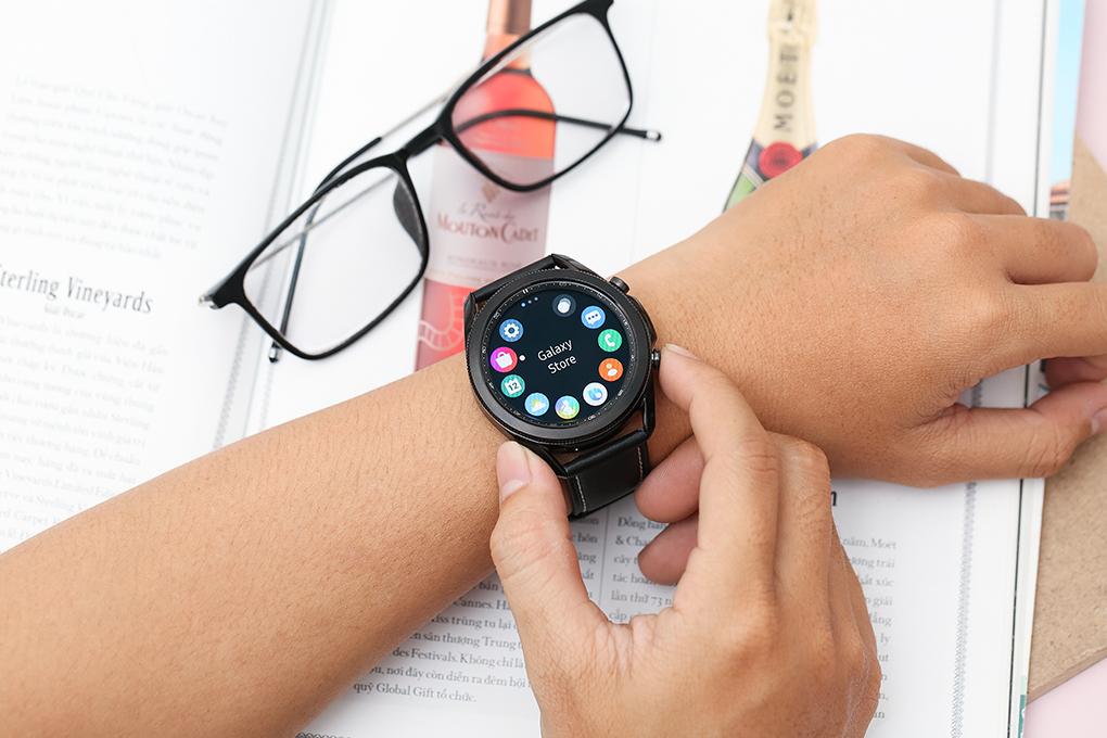 Đồng Hồ Thông Minh Samsung Galaxy Watch 3 Bluetooth (45mm) GPS (Viền Thép, Dây Da) SM-R840 - Hàng Chính Hãng