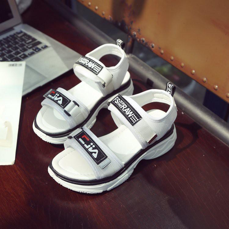 Giày Dép Nữ SANDAL dáng thể thao quai ngang đế cao 5cm mã DSD01