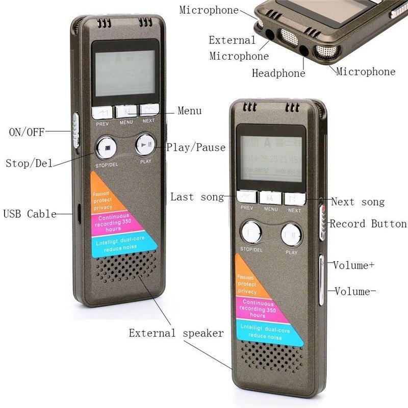 Máy Ghi Âm Chuyên Nghiệp Cao Cấp A700 8GB - Digital Voice Recorder