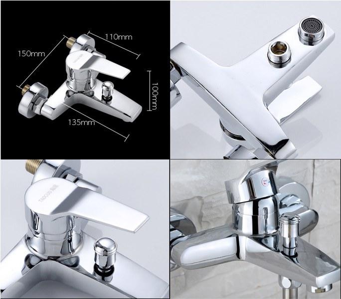 Bộ sen tắm nóng lạnh: Củ sen tắm TAOGUO + Vỉ Dây sen + Bát sen 3 chế độ phun + Giá đỡ