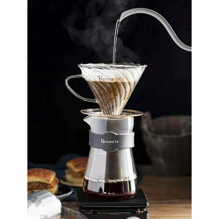 Phễu lọc cafe thủy tinh cường lực Artisan Tornado Glass Dripper for 1~2cups chính hãng Brewista