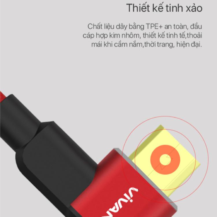 Dây Cáp Sạc Micro USB VIVAN BWM100 | Tiện Dụng Dài 1 mét | Hỗ trợ sạc nhanh | Hàng chính hãng