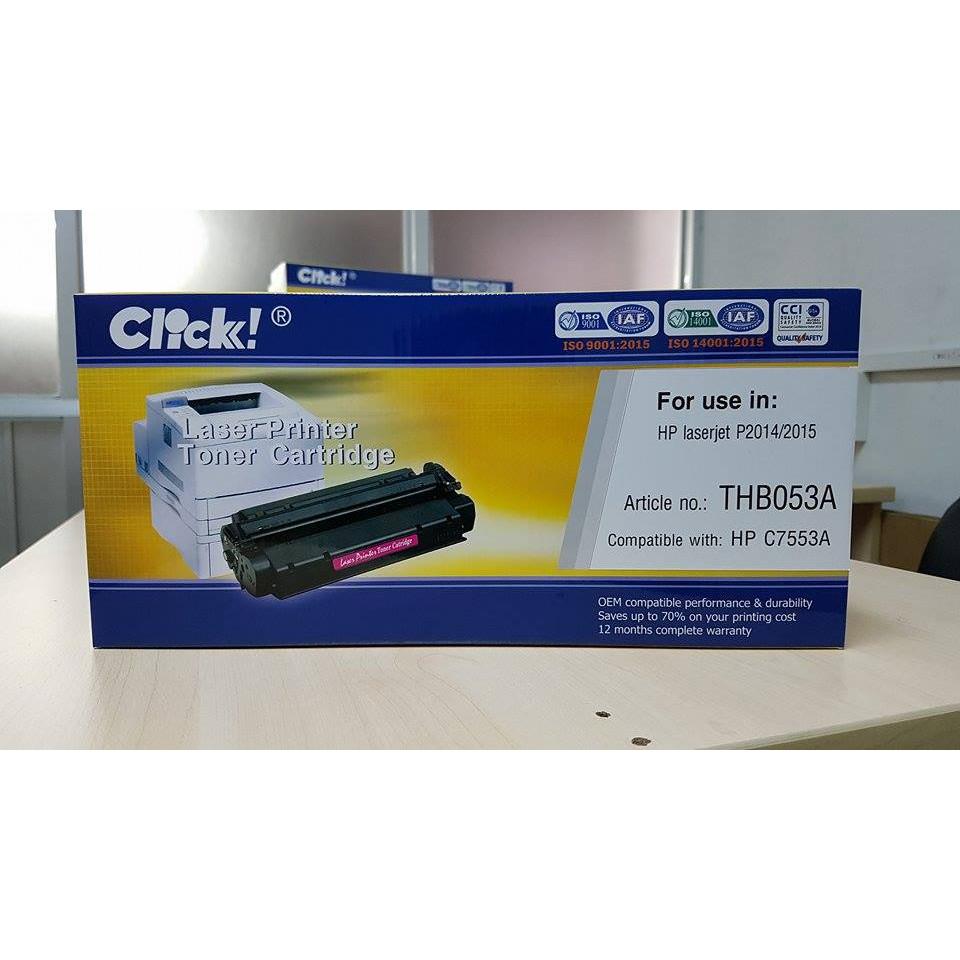 Hộp mực máy in Click HP 53A (C7553A) - Hàng Chính Hãng