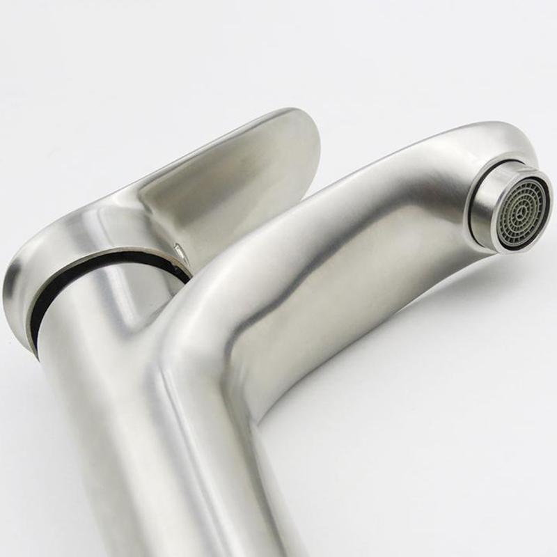 Vòi Lavabo Nóng Lạnh Điếu Cao 30cm Inox SUS 304 Eurolife EL-ORCHIRD 03 (Trắng Vàng)