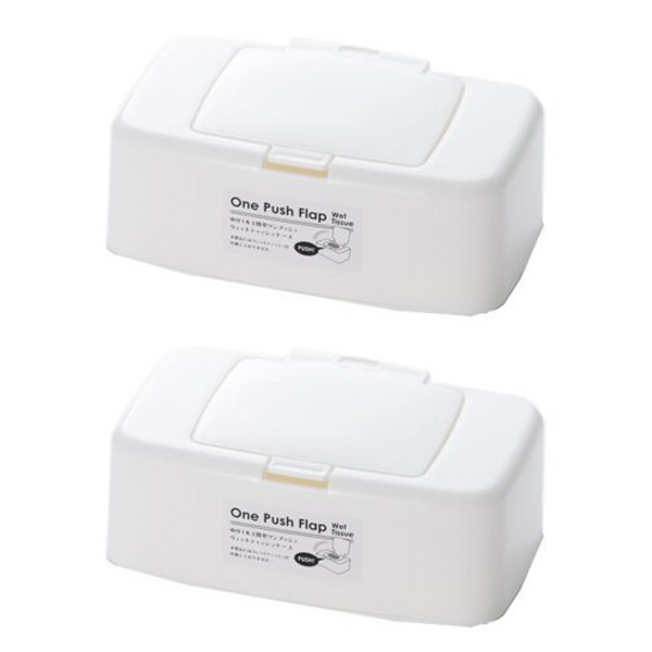 Combo 2 Hộp đựng giấy ướt có nắp bật nội địa Nhật Bản