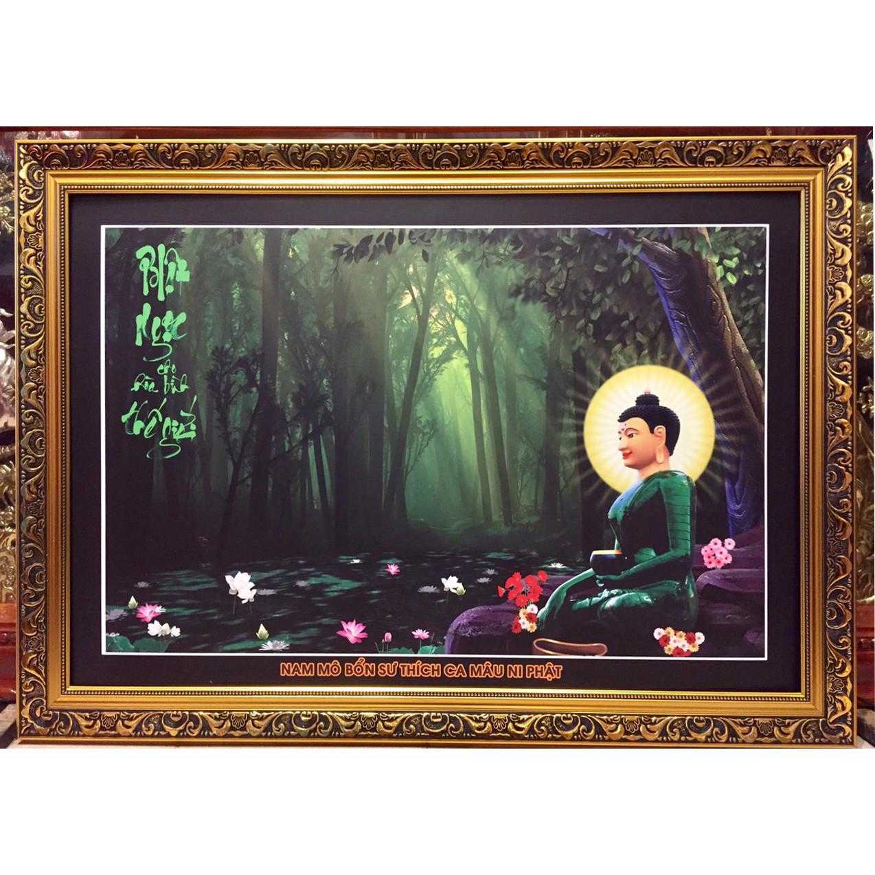 Tranh Phật Bổn Sư Thích Ca Mâu Ni Phật - ( 71x101cm)