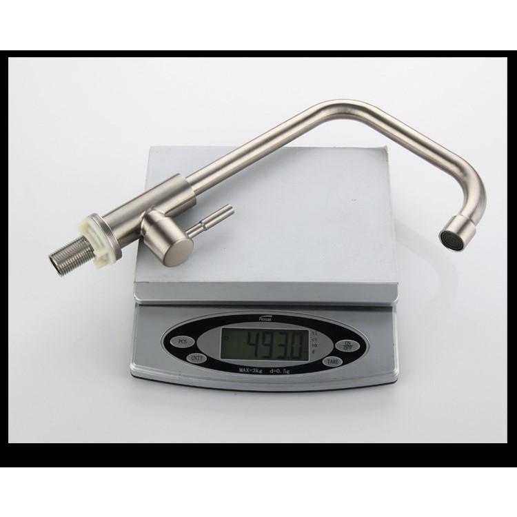Vòi rửa chén lạnh inox 304 xoay 360 độ