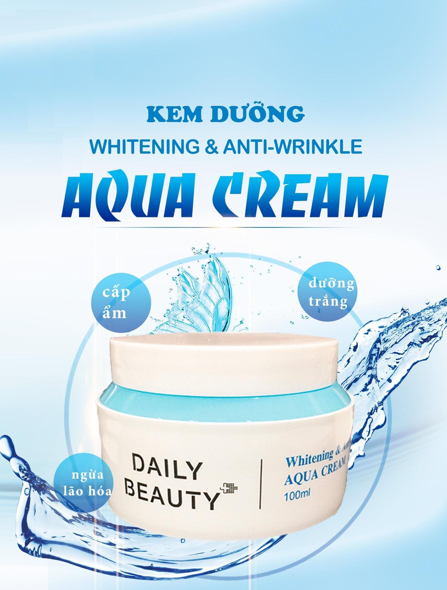 Combo 7 hộp Kem dưỡng Daily Beauty Intensive Anti-WrinKle Aqua Cream sản phẩm cấp nước cho da dầu nhập khẩu chính ngạch Hàn Quốc