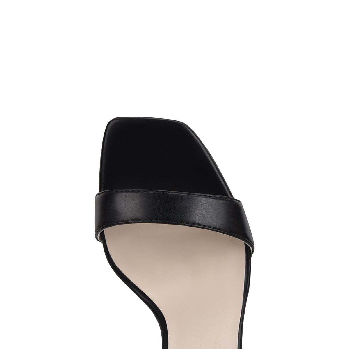 Sandal cao gót Đông Hải gót nhọn bọc kim loại 9cm quai ngang thanh mảnh - S85P5