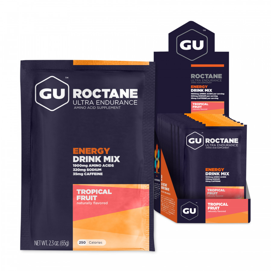 Thức uống Năng Lượng Gu Roctane Energy Vị Trái Cây Nhiệt Đới (10 Gói / Hộp)