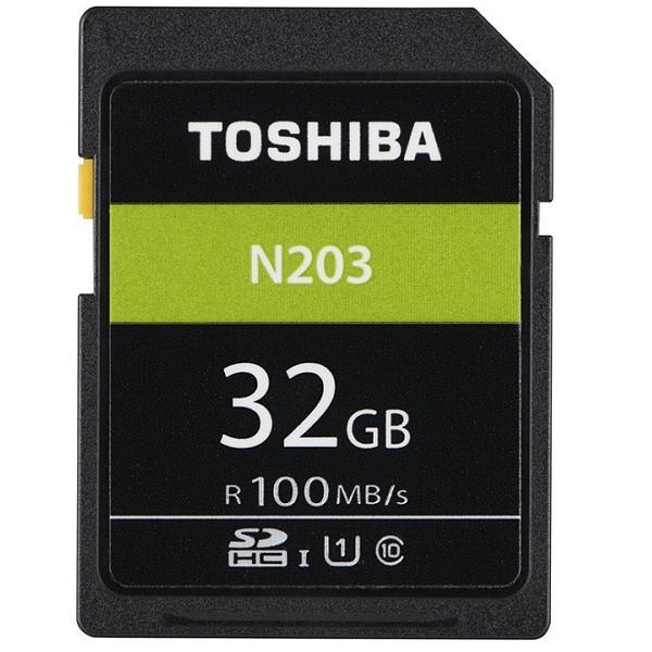 Thẻ nhớ SDHC Toshiba N203 32GB UHS-I U1 C10 100MB/s (Đen) - Hàng chính hãng