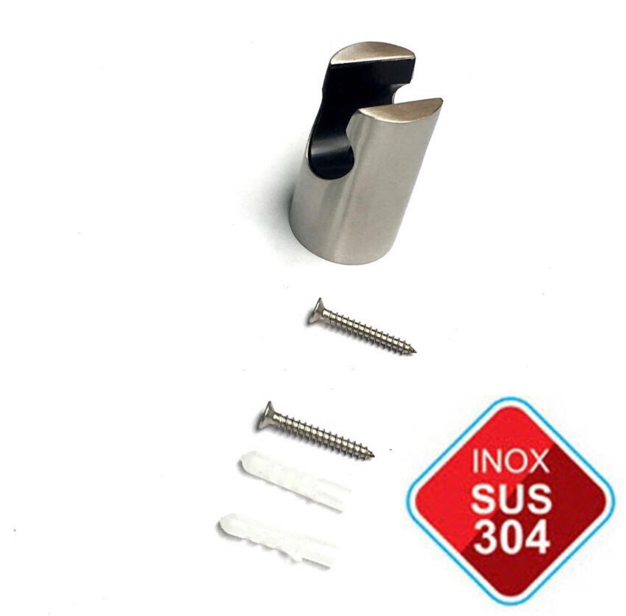 Đầu vòi xịt vệ sinh (toilet) inox SUS 304 + Đế cài vòi xịt Inox 304