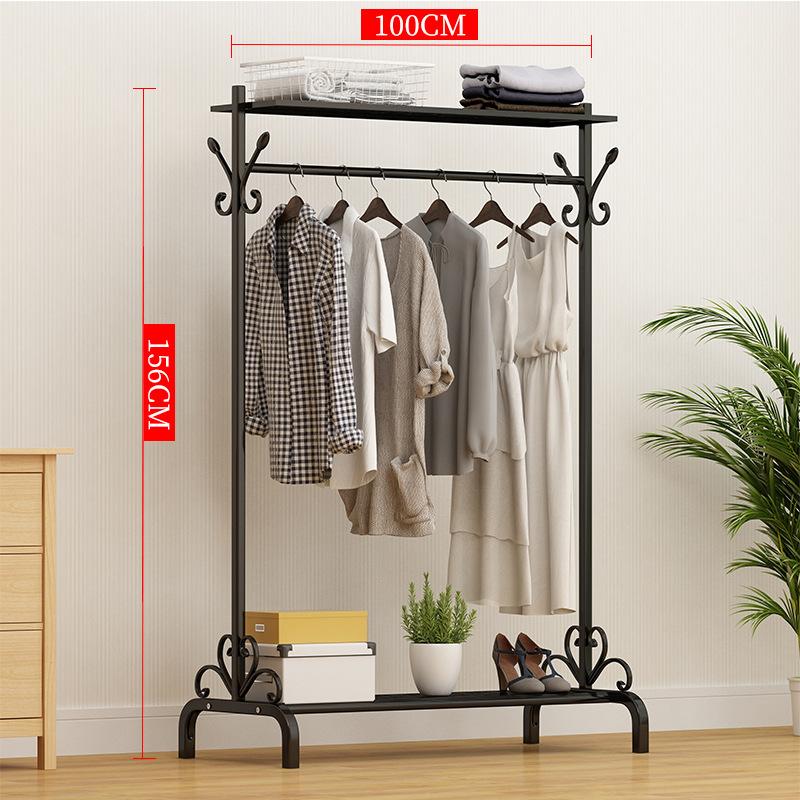 Giá treo quần áo mẫu CỔ ĐIỂN 2 tầng đồ 1 thanh treo tiện lợi cho không gian sang trọng, giá kệ treo đồ, phơi quần áo VANDO cao cấp