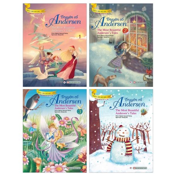 Bộ Sách Truyện Cổ Andersen - Truyện Song Ngữ Anh - Việt ( Bộ 4 Cuốn)