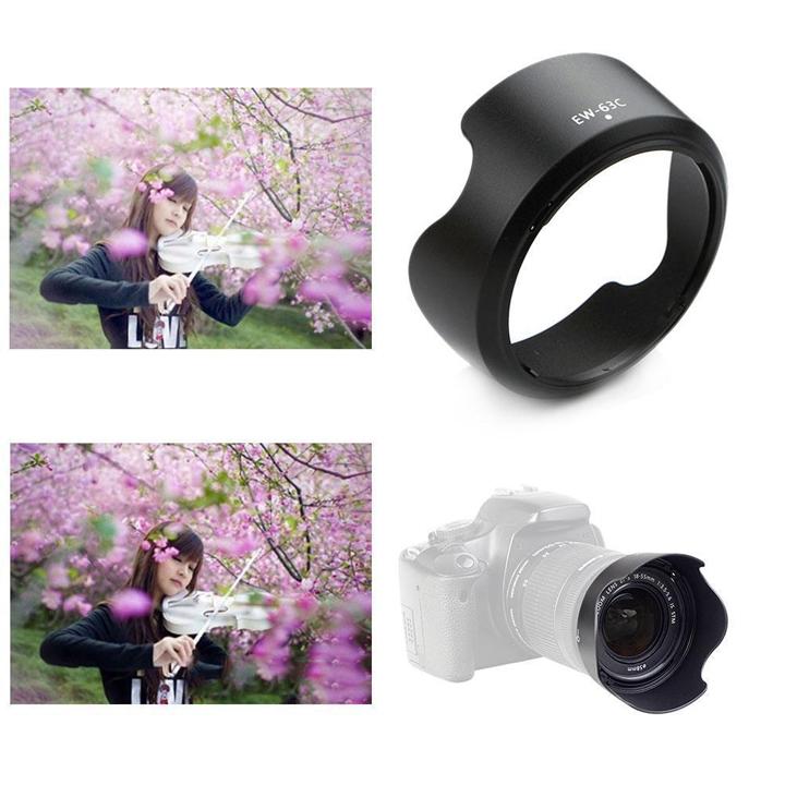 Loa che nắng hood EW-63C cho ống kính Canon EF-S 18-55mm f:3.5-5.6 IS STM